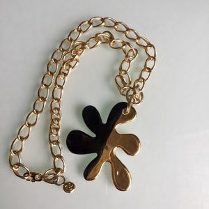 CHRISTIAN LACROIX 80's METAL AND ENAMEL PENDANT